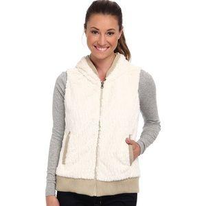 Patagonia Conejo Faux Fur White & Tan Vest